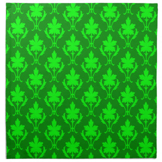 Dark Green & Light Green Ornate Wallpaper Pattern Napkin