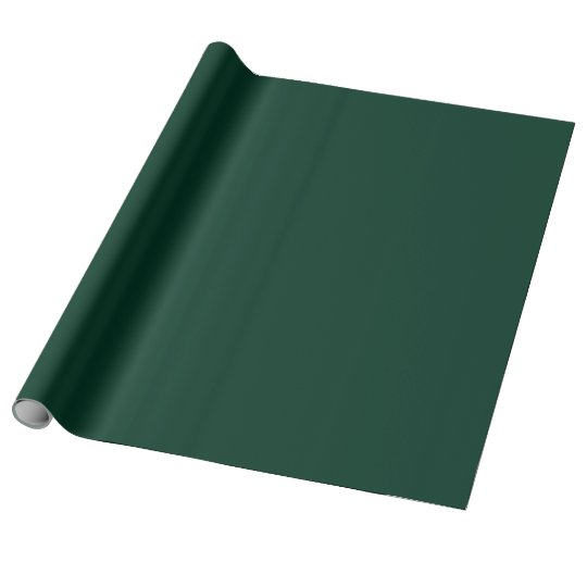 Dark Green Linen Wrapping Paper