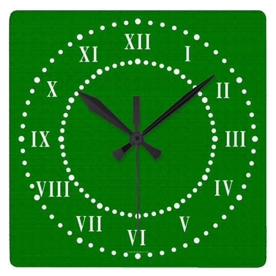 Dark Green Look Roman Numerals Wall Clock