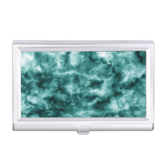 Dark Green Marble Texture Business Card Holder