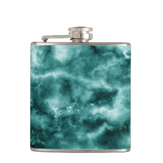 Dark Green Marble Texture Hip Flask
