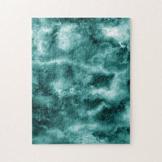 Dark Green Marble Texture Jigsaw Puzzle