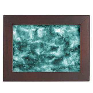 Dark Green Marble Texture Keepsake Box