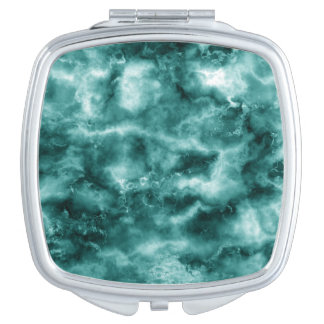 Dark Green Marble Texture Mirrors For Makeup