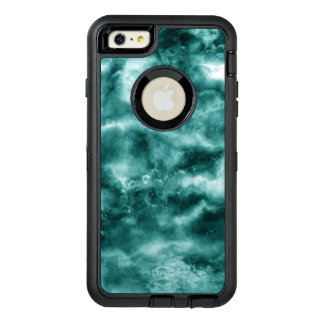 Dark Green Marble Texture OtterBox Defender iPhone Case