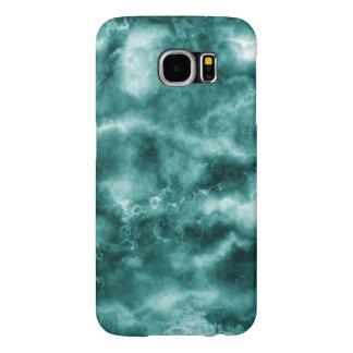 Dark Green Marble Texture Samsung Galaxy S6 Cases
