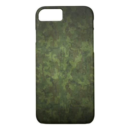 Dark Green Military Camouflage iPhone 7 Case