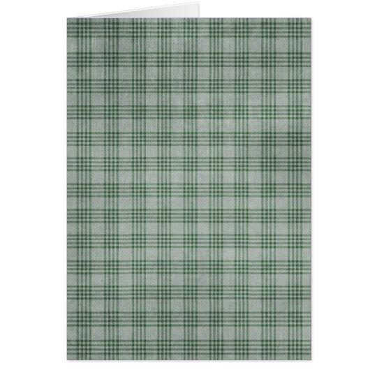 Dark Green Plaid Card