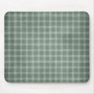 Dark Green Plaid Mouse Pad