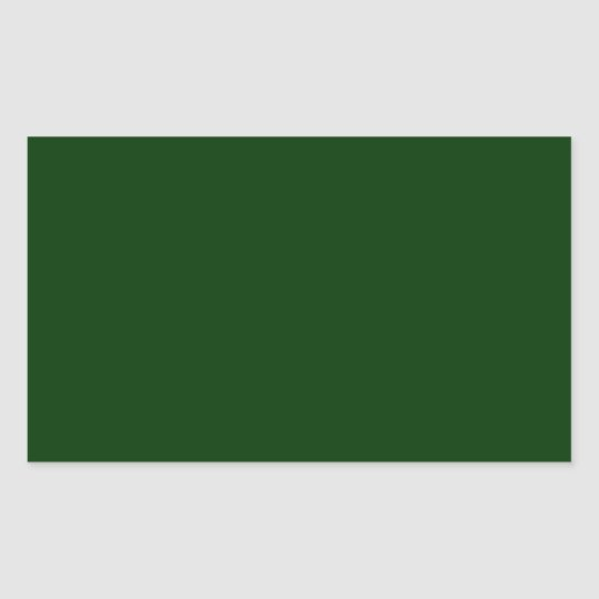 Dark Green Rectangular Sticker