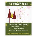 dark Green Retro Christmas Program Flyer