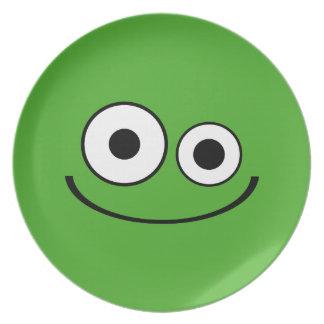 Dark Green Smiley Plate