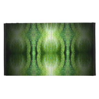 Dark Green Snake Skin iPad Folio Covers