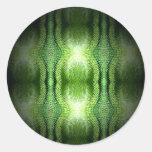 Dark Green Snake Skin Sticker