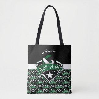 Dark Green Sport Volleyball | DIY Text Tote Bag