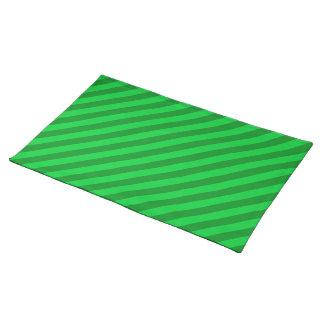 Dark Green Stripe Pattern. Placemat