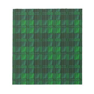 Dark Green Tartan Notepad