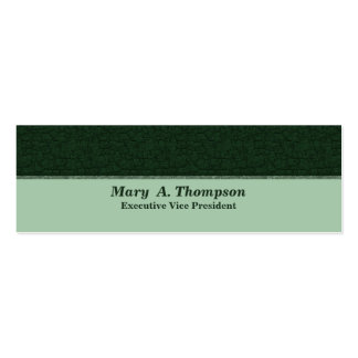 Dark Green Texture Pack Of Skinny Business Cards