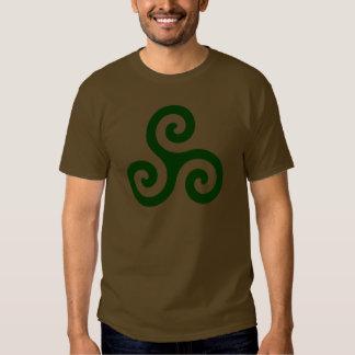 Dark Green Triskele Tshirts