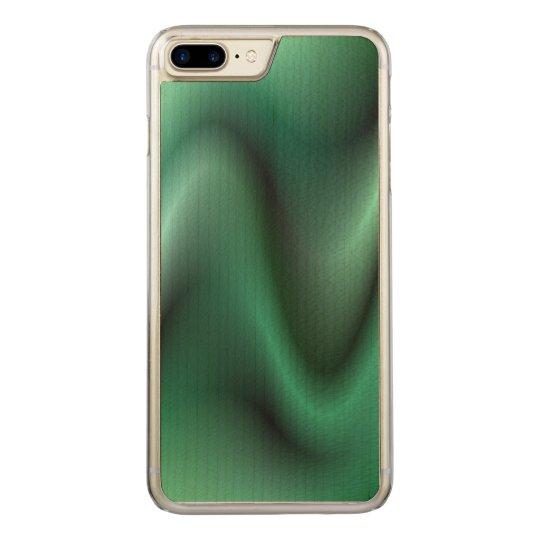 Dark green wave design carved iPhone 7 plus