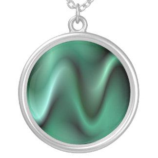 Dark green wave design pendants
