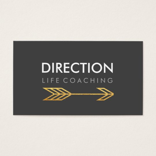 Dark Grey Arrow Bold Text Creative Life Coaching