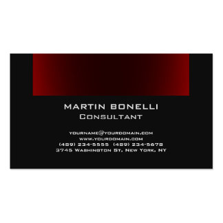 Dark Grey Browny Red Plain Clean Pack Of Standard Business Cards
