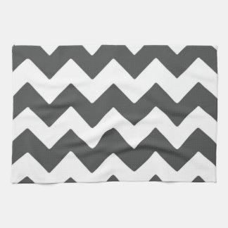 Dark Grey Chevron Kitchen Towel