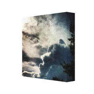 Dark Grey Clouds Canvas Print