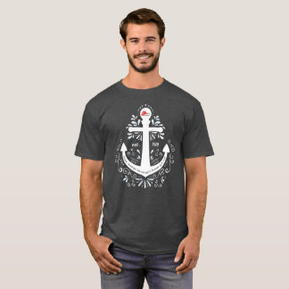 Dark Grey Knowledge, Help and Hope Anchor Tshirt