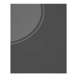 Dark Grey Mod Circle 11.5 Cm X 14 Cm Flyer