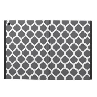 Dark Grey Moroccan Pattern iPad Air Cover