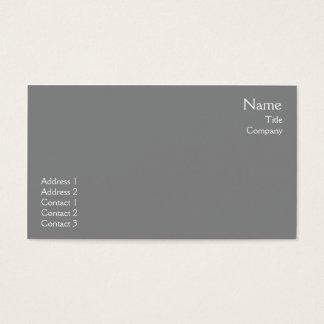Dark Grey Plain - Business Business Card