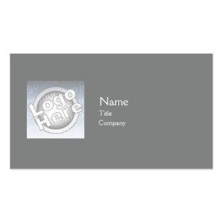 Dark Grey Plain - Business Pack Of Standard Business Cards