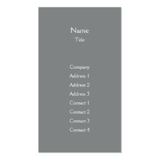 Dark Grey Plain Vertical - Business Pack Of Standard Business Cards