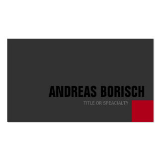 Dark Grey Red Square Custom Profile Card Business Card Templates
