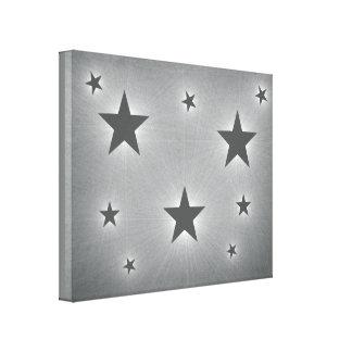Dark Grey Stars in the Night Sky Canvas Print