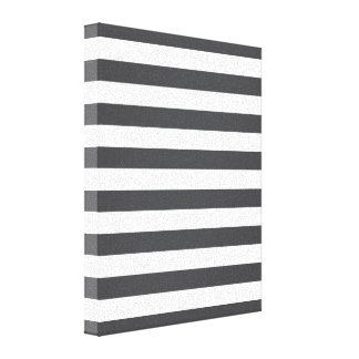 Dark Grey Stripes Canvas Print