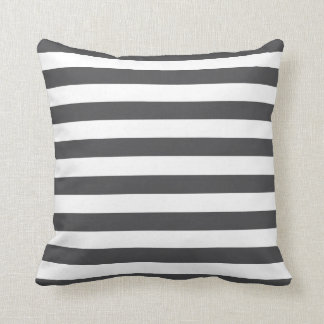 Dark Grey Stripes Cushion
