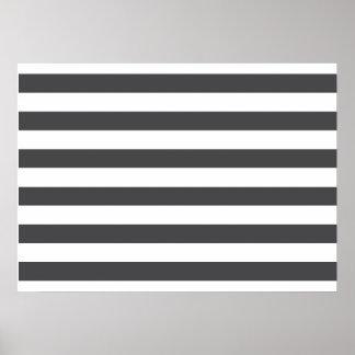 Dark Grey Stripes Posters