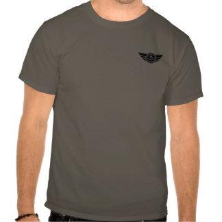 Dark grey T-shirt w/black & white MCR logo