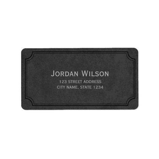 Dark Grey Vintage Inspired Frame Address Label