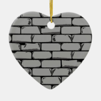 Dark Grey Wall Ceramic Heart Decoration