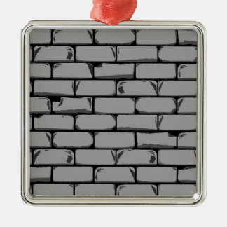 Dark Grey Wall Silver-Colored Square Decoration