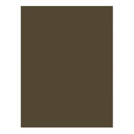 Dark Greyed Camo Army Green Khaki Color Only Postcard