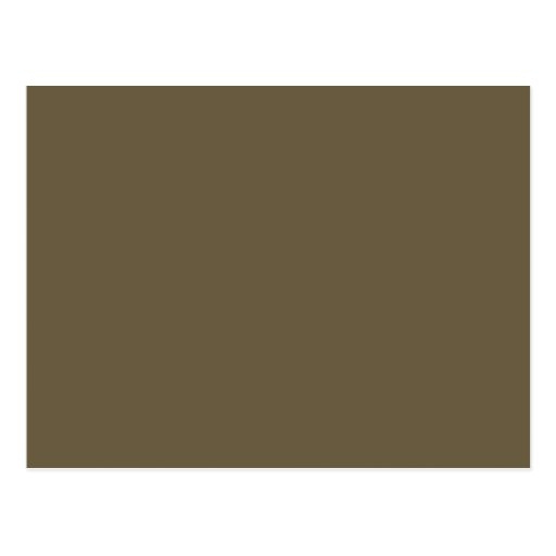 Dark Greyed Camo Army Green Khaki Color Only Post Cards