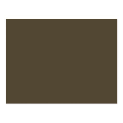 Dark Greyed Camo Army Green Khaki Color Only Post Card