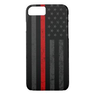 Dark Grungy Fire Fighter Flag iPhone 8/7 Case