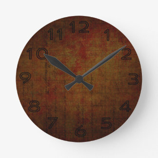 Dark Grungy Painting Background Wall Clock