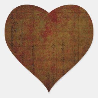 Dark Grungy Painting Background Heart Sticker